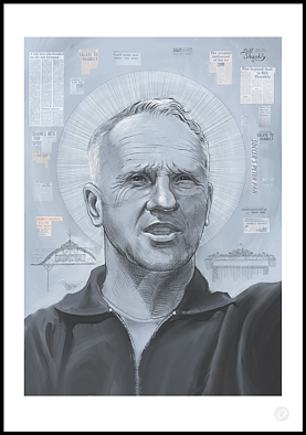 Plakat med Liverpool -legenden Bill Shankly fra Mavegant