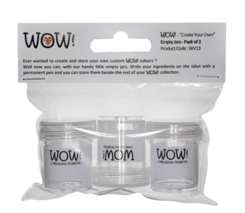 """WOW EMBOSSING POWDER """"Create Your Own"""" Empty Jars (Pack of 3)"""