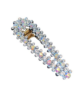 """Hairpin """"bling"""" blue/silver pointy"""