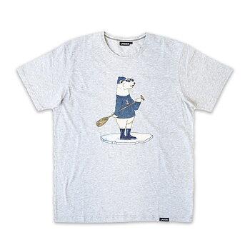 Lakor Soulwear Polar Bear SUP T-Shirt Light Grey Melange