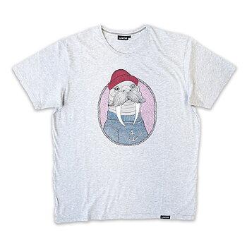 Lakor Soulwear Walrus Sailor T-Shirt Light Grey Melange