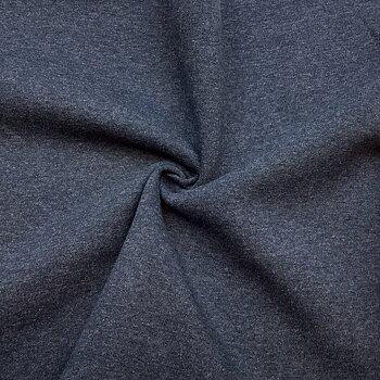 Recycled sweatshirt fabric Blue melange