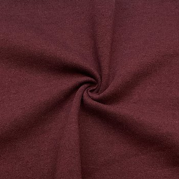 Recycled sweatshirt fabric Wine melange