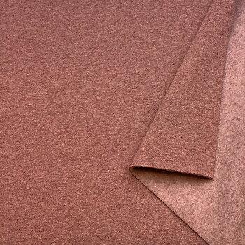 Recycled sweatshirt fabric DustyRose melange