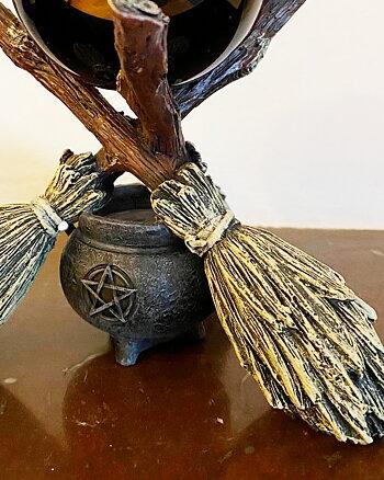 Broom Tripod Black Crystal - Crystal Ball