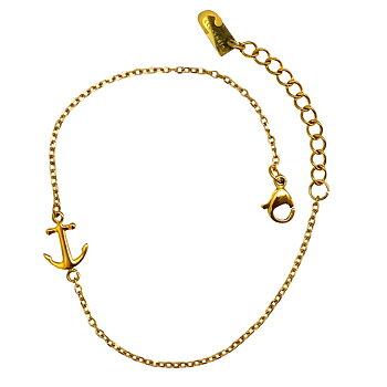 Fotlänkar i äkta hög kvalitet som tål vatten - Fotlänk Ankare i guld på stål - allergivänligt och nickelfritt | C Stockholm smycken vristlänkar och fotsmycken
