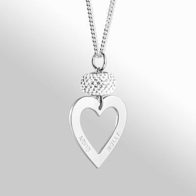 Hjärtram LOVE med kristall