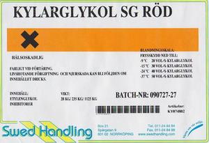 Long-Life, rödfärgad Glykol 25L