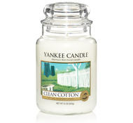 Clean Cotton, Large Jar, Yankee Candle