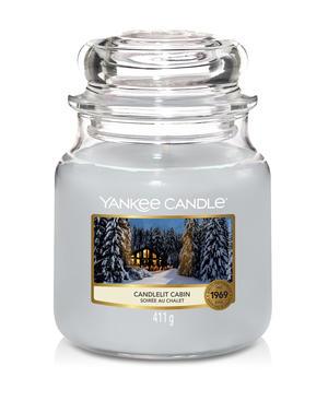 Candlelit Cabin,  Medium Jar, Yankee Candle