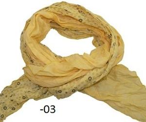 Krinklad sjal enfärgad med blomtryck