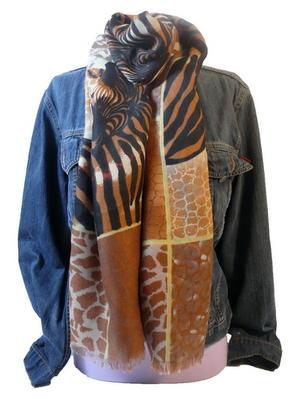 Sjal Zebra & Giraff