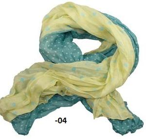 XXL-sjal tvåfärgad med prickar