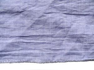 Storsjal enfärgad med lurexkant
