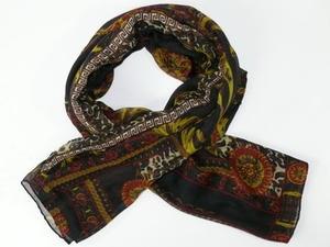 XXL-sjal med ornament/animal mönster