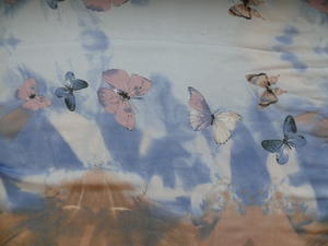 Sjal Fjärilar Bomull/Viskos