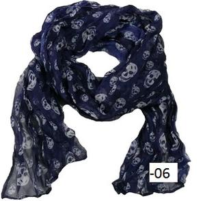 Krinklad chiffonscarves små dödskallar