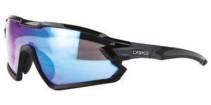 Casco SX 34 Carbonic black, blue-mirror