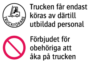 1988 Trucken får endast köras av därtill utbildad personal
