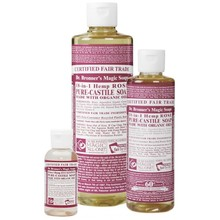 Dr. Bronner's Rose PureCastile Liquid Soap 59ml EKO