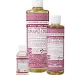 Dr. Bronner's Rose PureCastile Liquid Soap 59ml EKO
