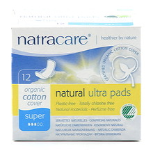 Natracare Binda Natural Super Ultratunna Vingar 12st EKO