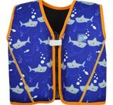 Splash About Flytande Simväst Go Splash Starter Float Jacket Shark Blue Orange