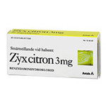 ZYX Citron 3mg sugtablett 20st