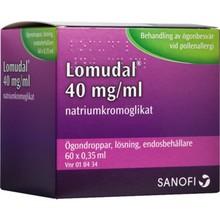 LOMUDAL Ögondroppar 40mg/ml 60st pipetter