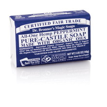 Dr. Bronner's Peppermint PureCastile Bar Soap 140g EKO