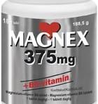 Magnex 375mg + B6-vitamin 180st