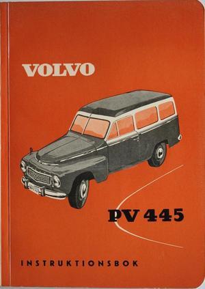 1959 Volvo Duett PV 445 M Instruktionsbok