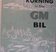 1960 GM Skötsel och körning av Eder GM Bil maj. -60