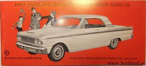 1963 Ford Fairlane Owners Manual