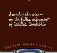 1951 Cadillac Owner's Manual