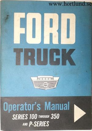 1963 Ford Truck 100-350 Operator's Manual