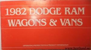 1982 Dodge Ram Wagons & Vans Operating Instructions