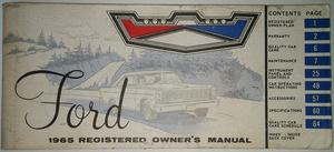 1965 Ford full size Owners Manual