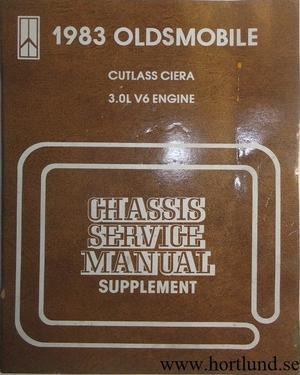 1983 Oldsmobile Cutlass Ciera Chassis Service Manual supplement