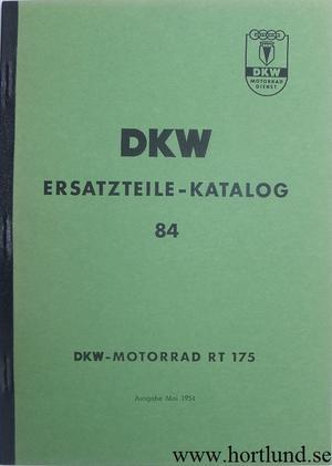 1953 - 1955 DKW RT 175 Reservdelskatalog