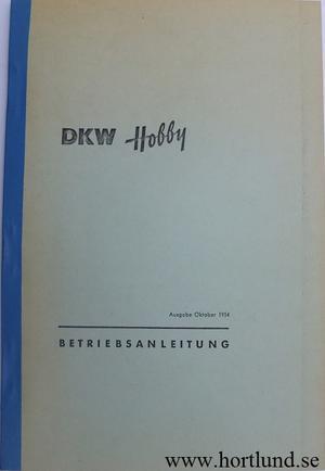 1954 DKW Hobby Instruktionsbok