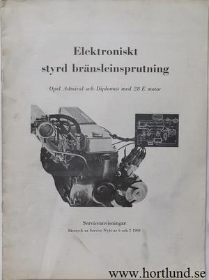 1969 Opel Admiral Diplomat Elektroniskt styrd bränsleinsprutning