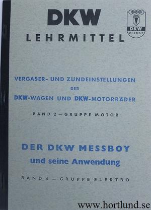 1937 - 1956 DKW förgasare och tändning instruktionsbok
