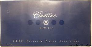 1997 Cadillac DeVille Exterior Color Selections