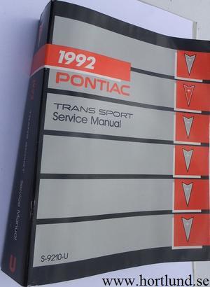 1992 Pontiac Trans Sport Service Manual