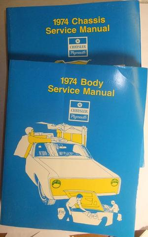 1974 Plymouth & Chrysler och Imperial Service Manual original
