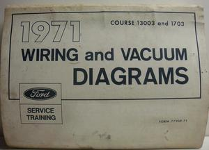 1971 Lincoln Continental Mark III Wiring & Vacuum Diagram