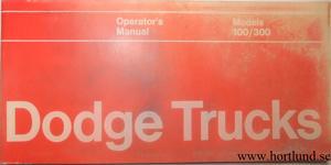 1972 Dodge Truck 100-300 Operator's Manual