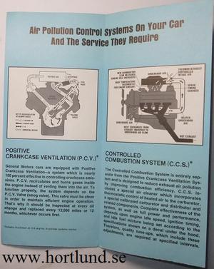 1968 GM Air Pollution Control Systems broschyr