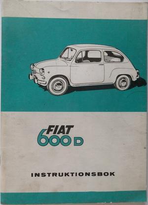 1965 - 1969 Fiat 600 D instruktionsbok svensk